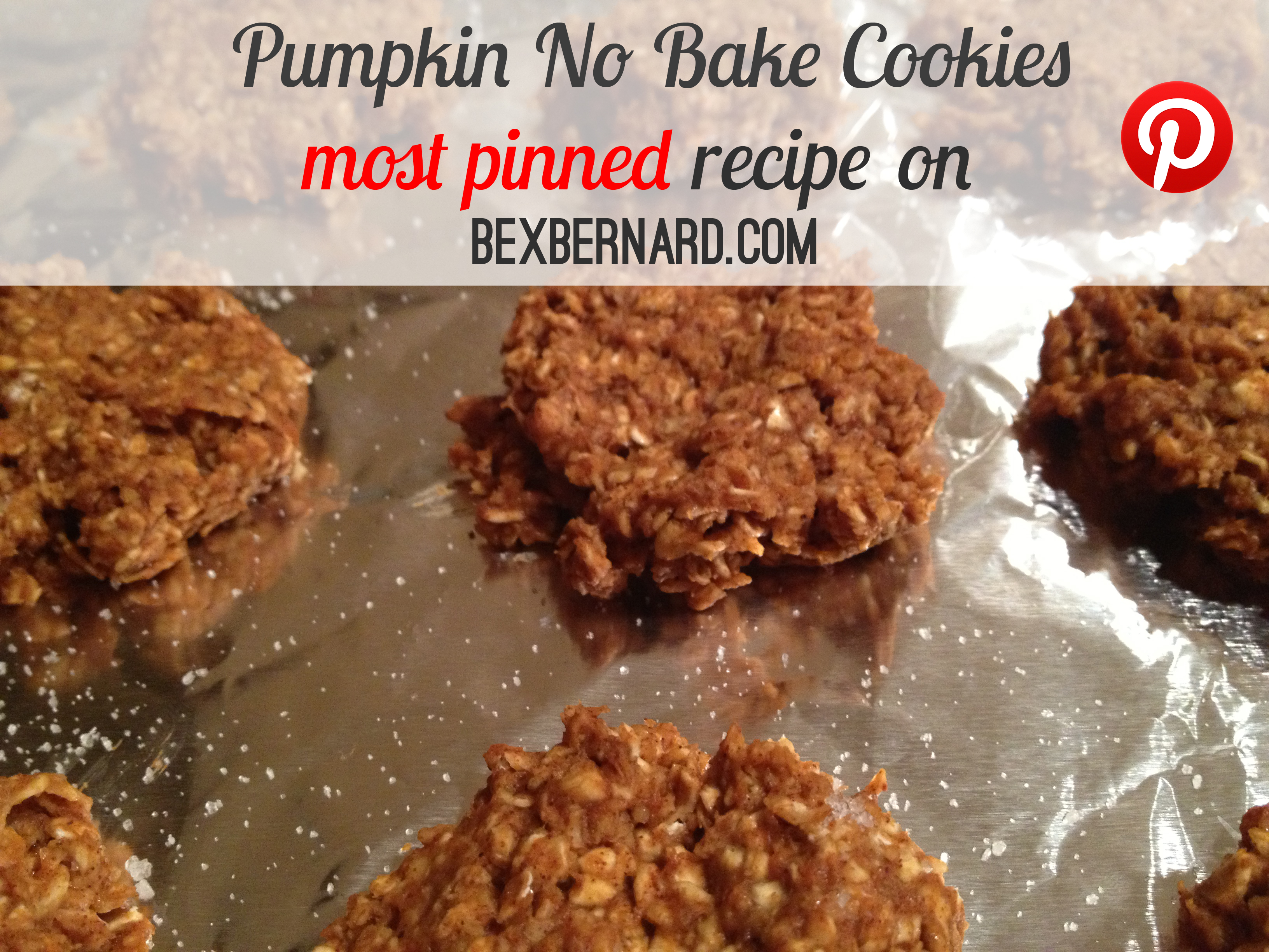 pumpkin no bake cookies recipe. healthy dessert with oats | bexbernard.com
