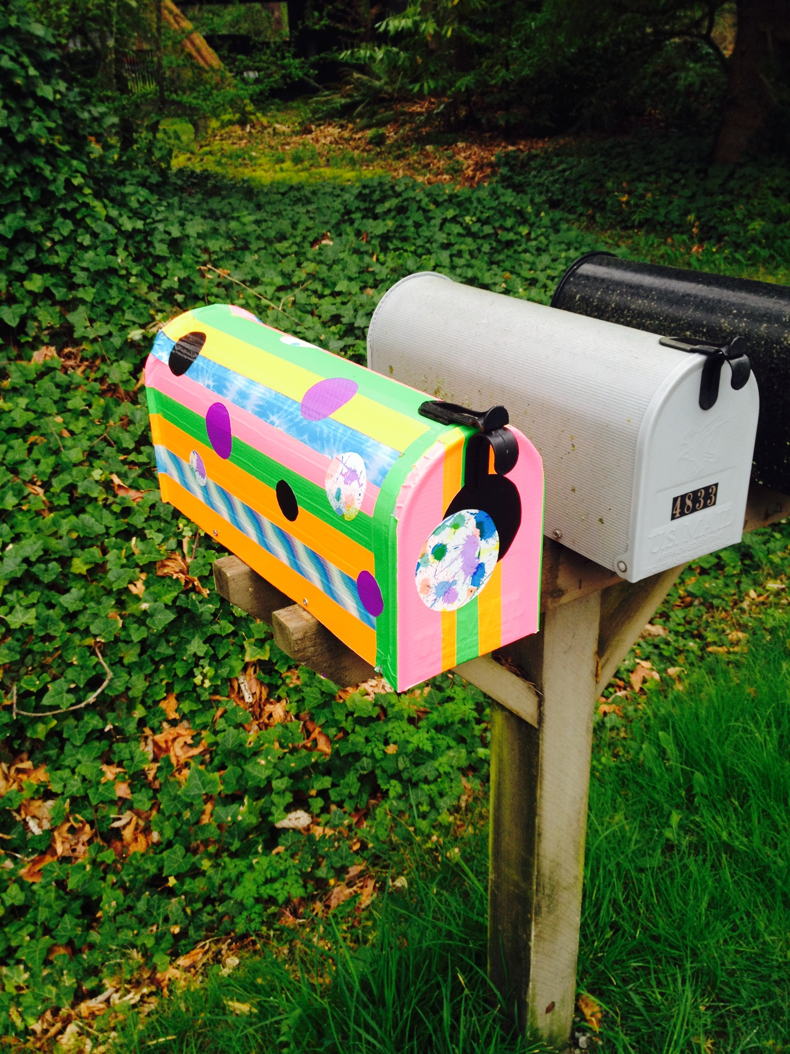 Duct tape mail box diy personalized mailbox | bexbernard.com