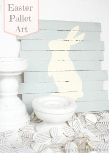 Easter-Pallet-Art design dining diapers | bexbernard.com diy crafts via designing, dining, and diapers