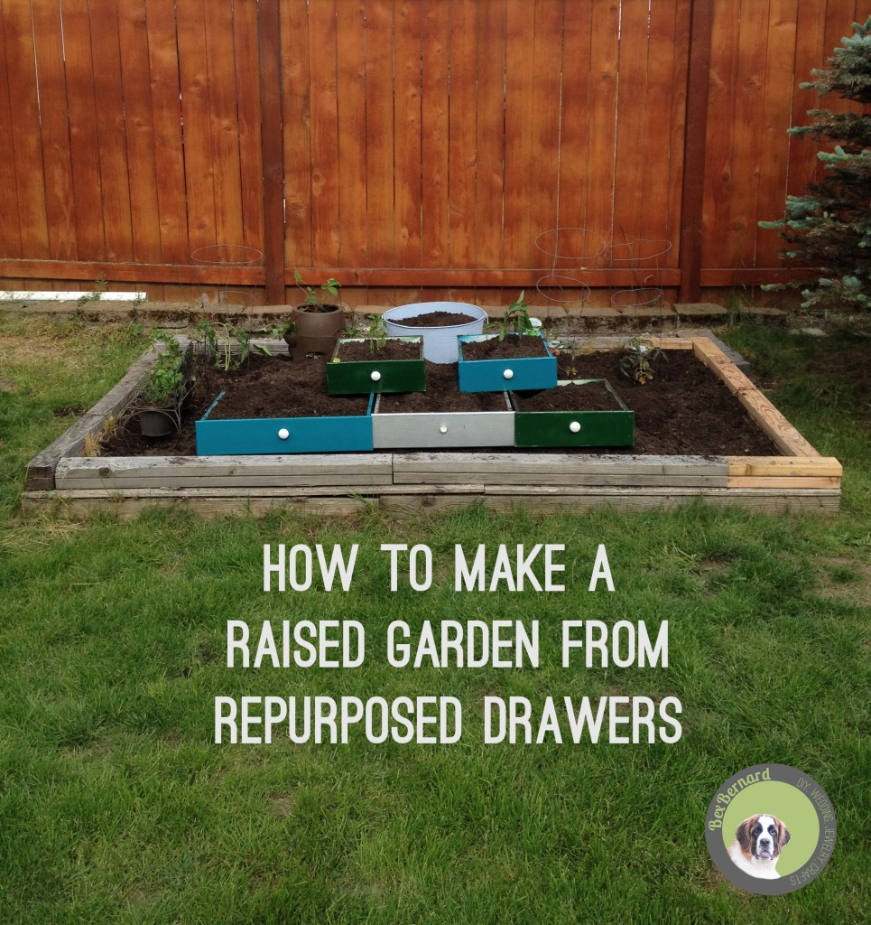 how to make a raised Vegetable Garden of Repurposed Drawers | bexbernard.com