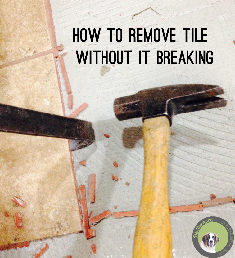 how to remove tile without breaking it. pulling tile kitchen demolition. home improvement diy. kitchen demo remodel | bexbernard.com