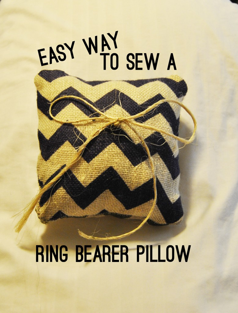 diy ring bearer pillow instructions