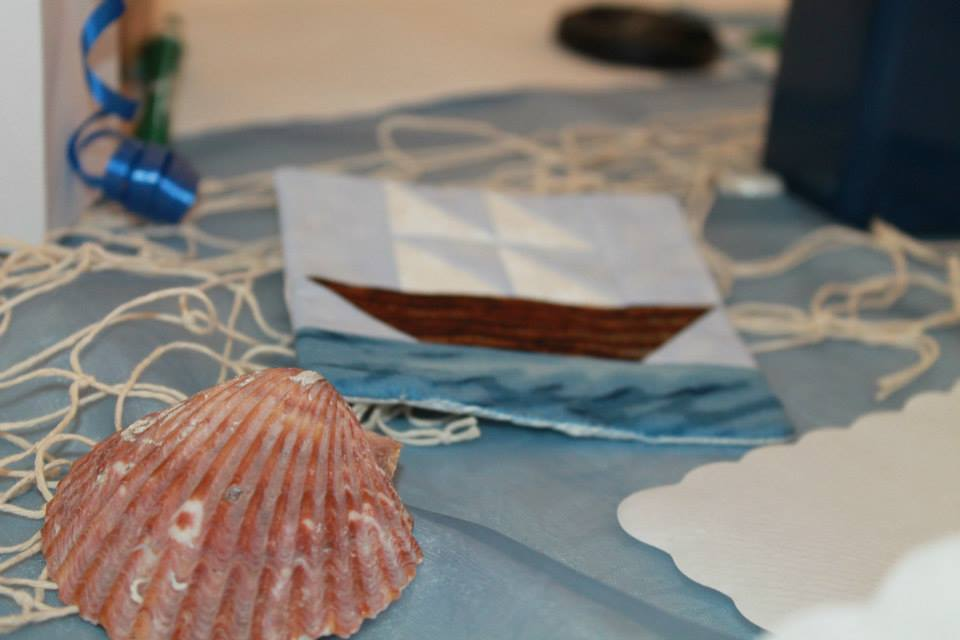 Bridal shower boat coaster shells net at polson museum nautical wedding | bexbernard.com