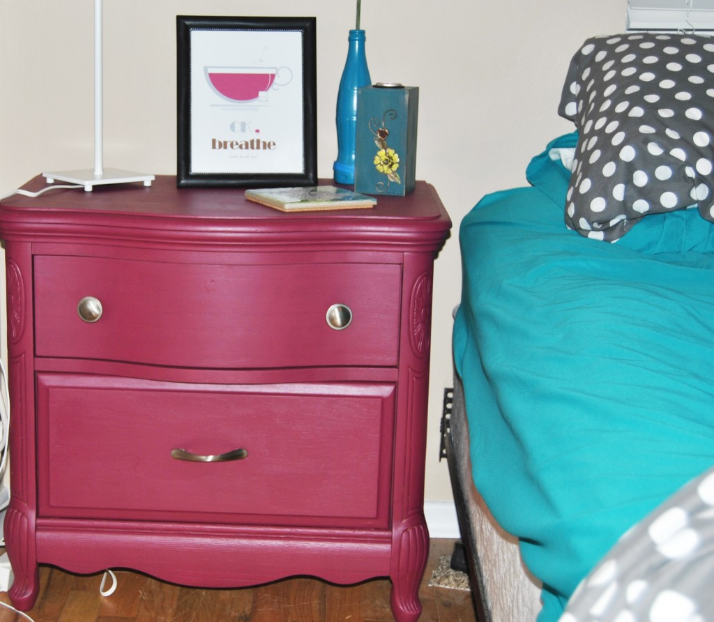 before and after sangria painted dresser. how to refinish wood dresser. | bexbernard.com