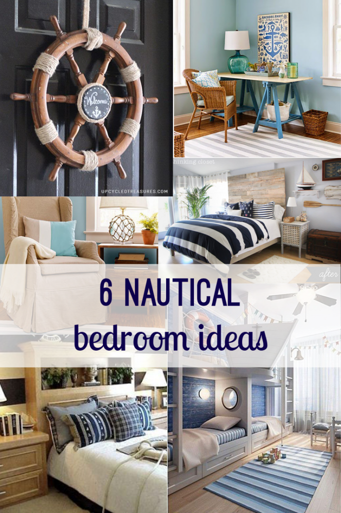 Lovely Nautical Bedroom Ideas From @Pinterest And @thinkingcloset. Anchors, Ship  Helms, Blue