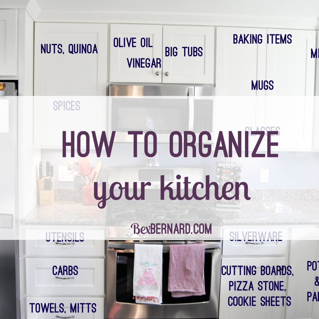How To Organize Your Kitchen Cupboards And Drawers. Dishes, Pots, Pans, And