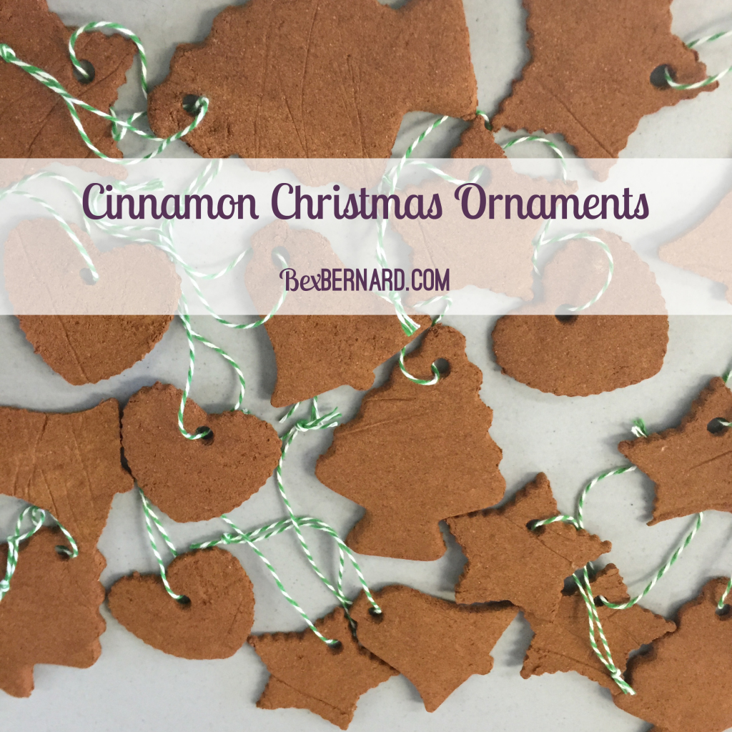 cinnamon christmas ornaments tutorial. how to make xmas gifts. diy crafts. barter fair. www.bexbernard.com