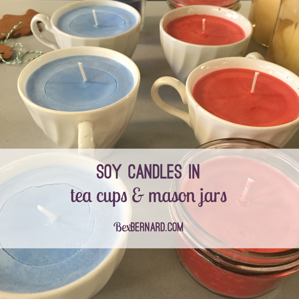 soy candles are a great diy gift! tutorial and how to instructions. christmas gifts. barter craft fair. | www.bexbernard.com