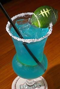 12th man margarita  football cocktail or game day. alcohol drink