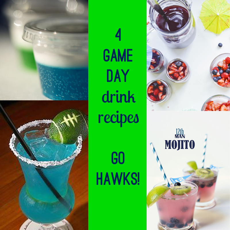 4 football cocktails for game day. seahawks alcohol drink. | bexbernard.com