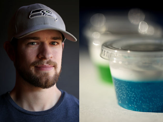blue jello shots | football cocktail or game day. seahawks alcohol drink. 12