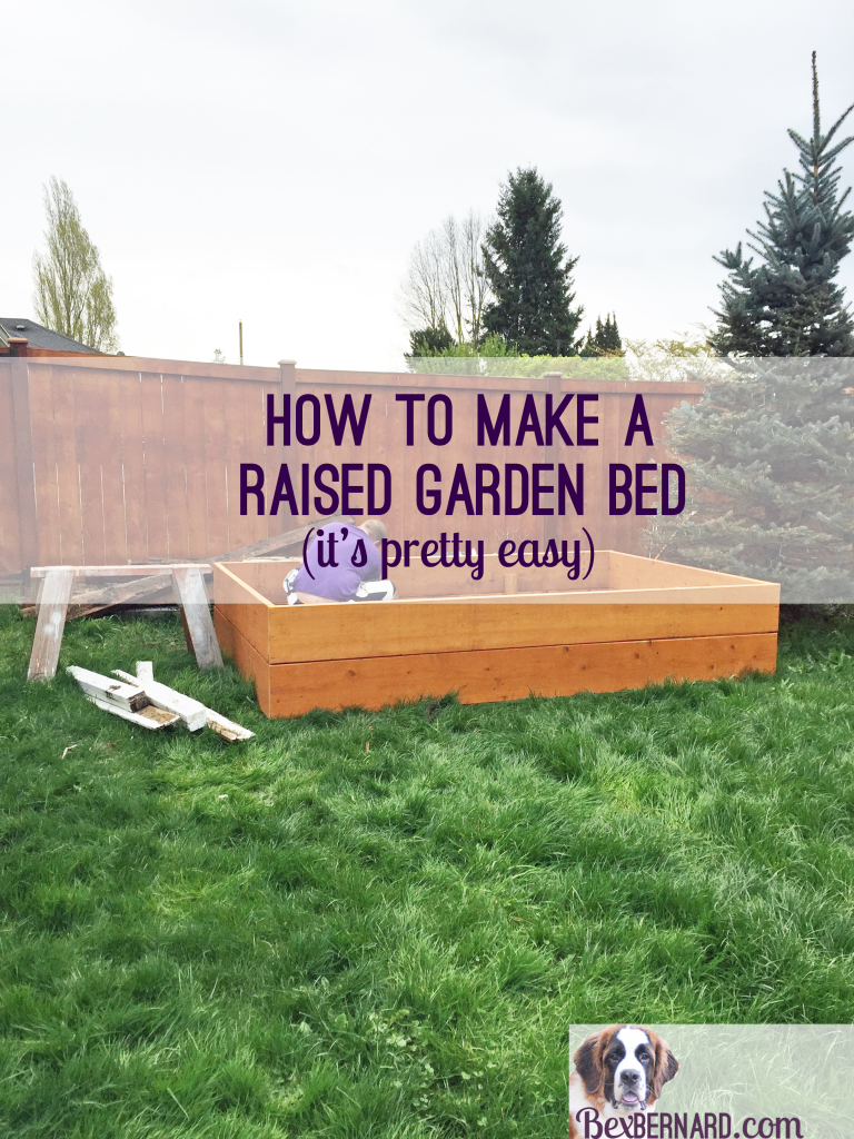how to make a raised bed garden with wood! You'll love the beautiful wood in your backyard and eating fresh food. | bexbernard.com a home blog