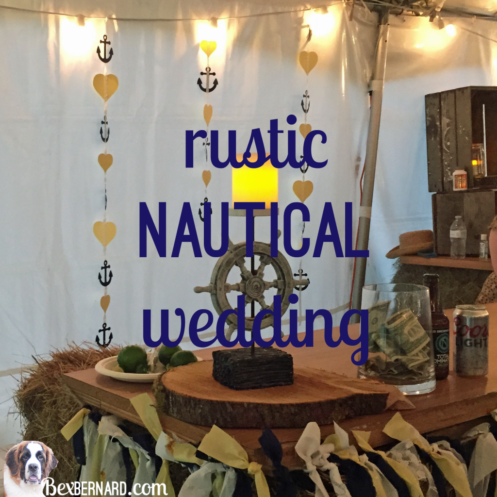 Rustic nautical wedding in Pacific Northwest with anchor decorations and hay bales. | bexbernard.com