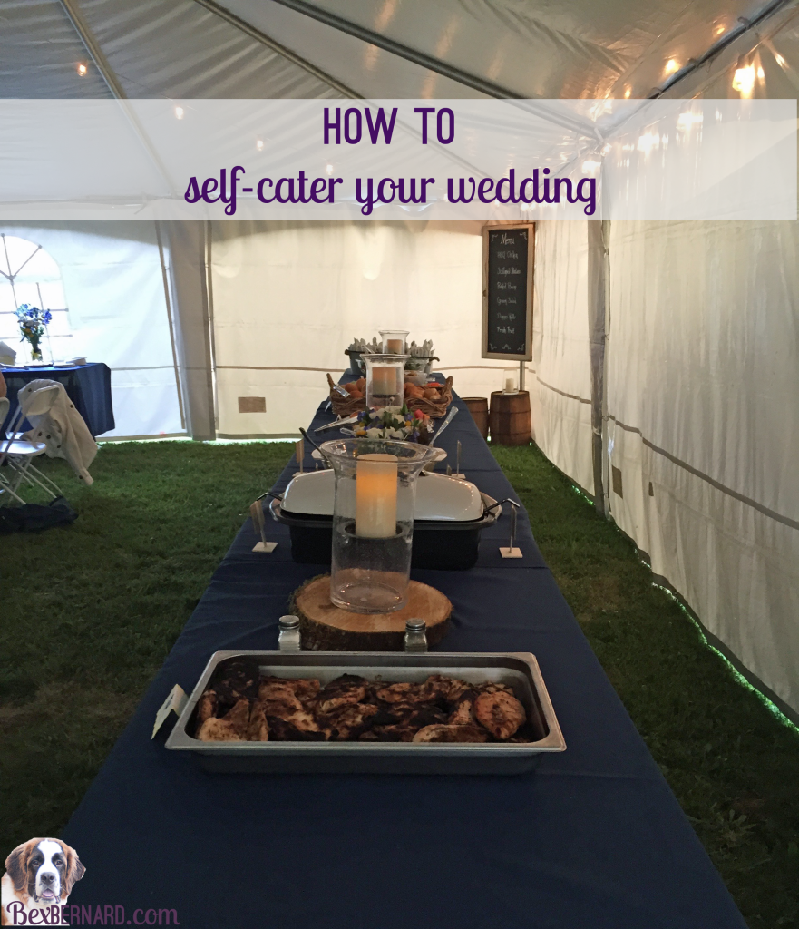 self catered wedding menu and timeline bexbernard