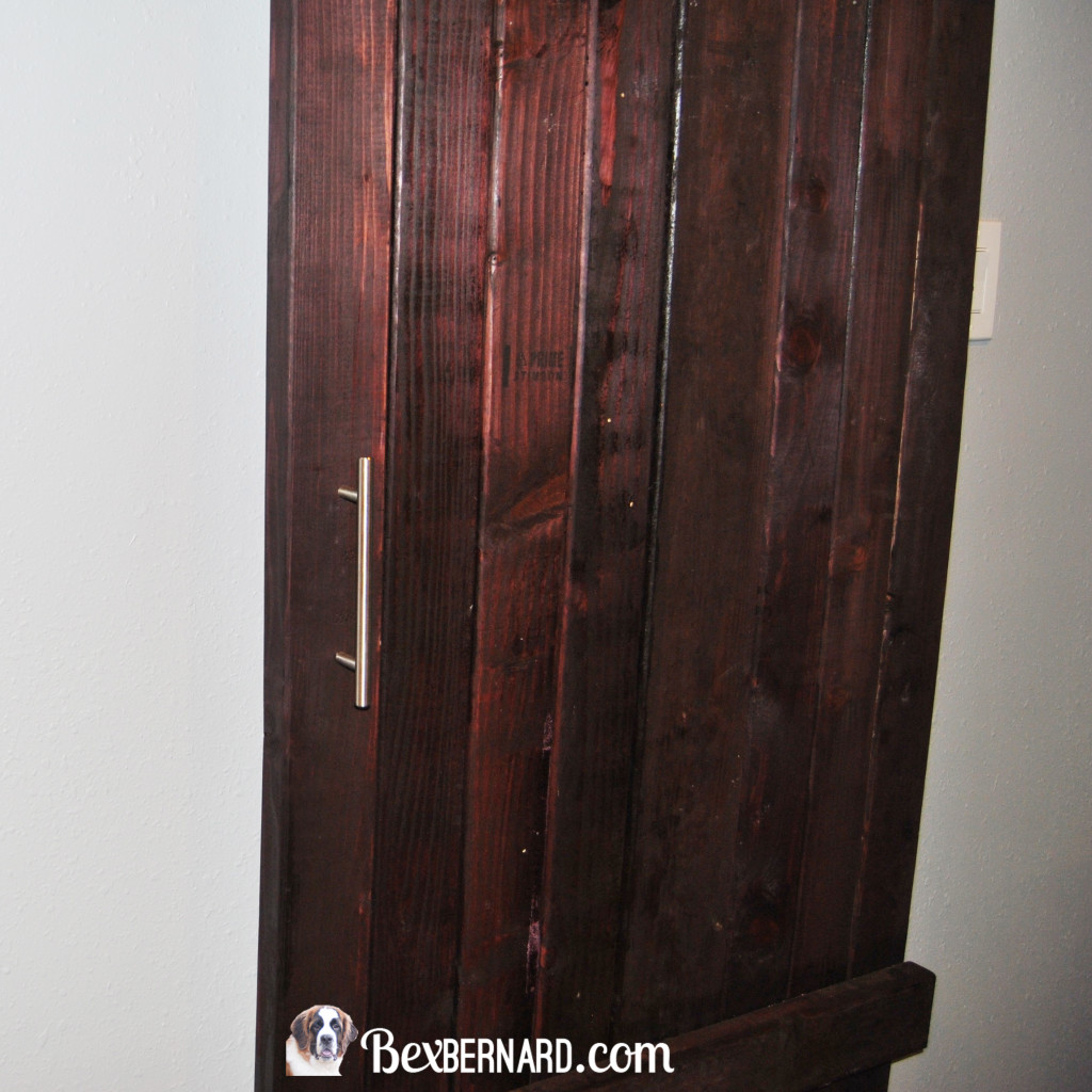 how to make a barn door. DIY sliding door. home improvement. wood decor for master bedroom. | bexbernard.com
