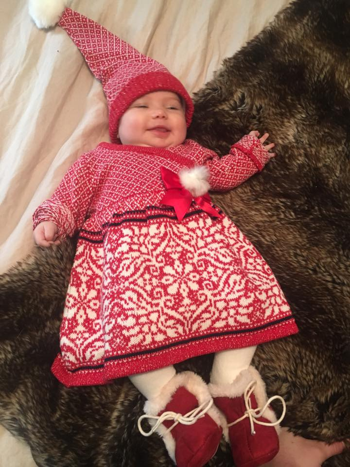 Christmas baby red dress