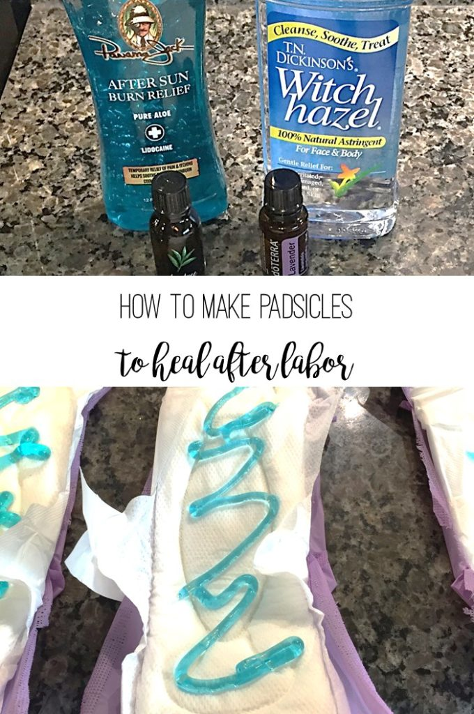 How to make padsicles to heal after labor. Soothing way to use pads to relax after giving birth. | bexbernard.com