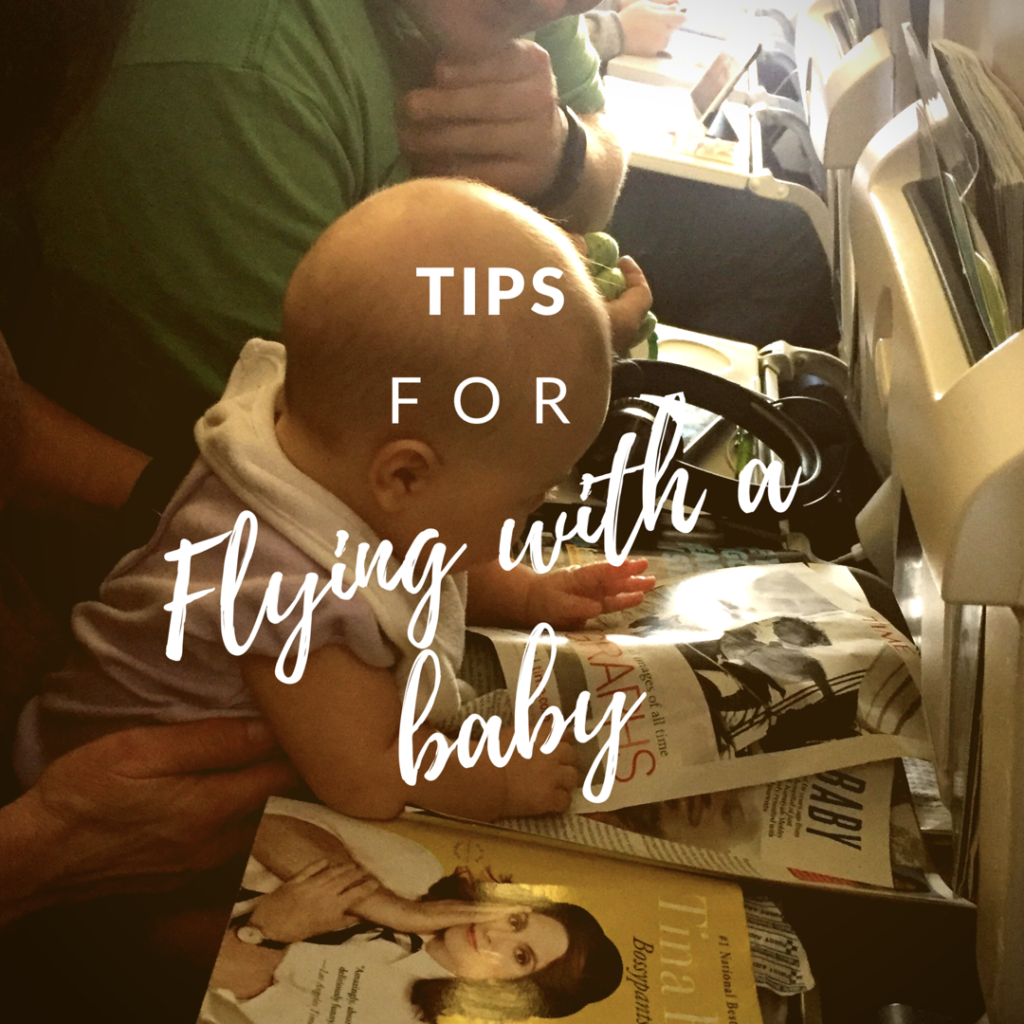 Tips for flying with a baby. How to ride in an airplane with a toddler.
